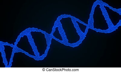 Abstract background with DNA. Seamless loop