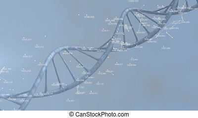 Abstract background with DNA structure and plexus