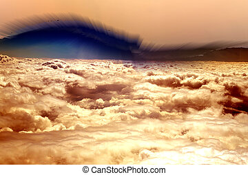 Abstract background with dramatic clouds