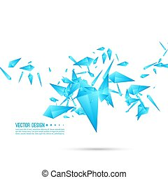 Abstract background with dynamic fragments. - Abstract ...