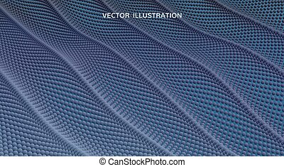 Abstract background with dynamic particles. Texture. 3d vector Illustration.