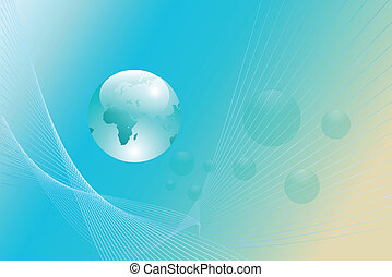 Abstract background with earth glob