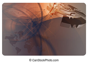 Abstract background with elements of technology.