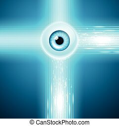 Abstract background with eye