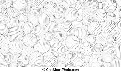 Abstract background with falling outlined balls