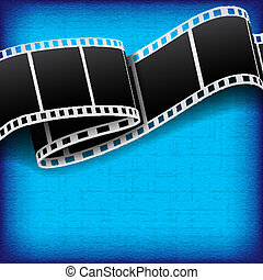 Abstract background with film reel