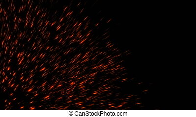 Abstract background with fire sparks - Abstract backdrop...