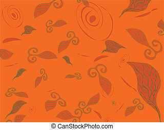 Abstract background with fish