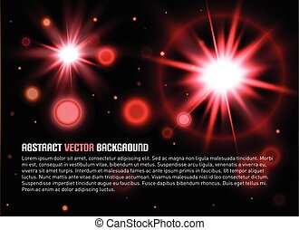 Abstract background with flair. Vector illustration.