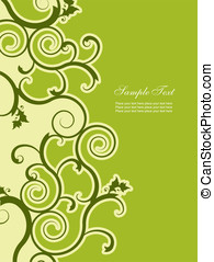 Abstract background with floral elements. Easy to edit...