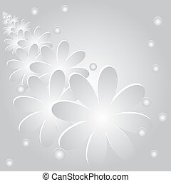 Abstract background with flowers an