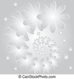 Abstract background with flowers and circles