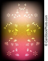 Abstract background with flowers. Eps10 vector illustration