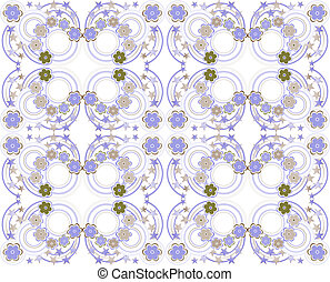 Abstract background with flowers, fashion seamless pattern