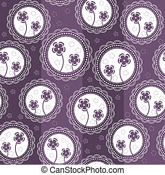Abstract background with flowers in circles