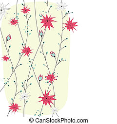 Abstract background with flowers.