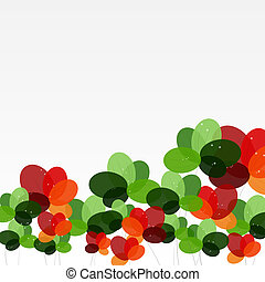 Abstract background with Flowers. Vector Illustration