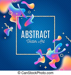 Abstract background with fluid multicolored shape