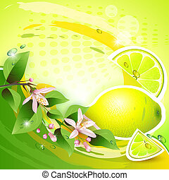Abstract background with fresh lemo