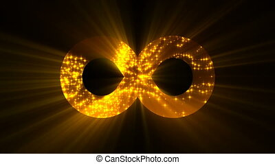 Abstract background with futuristic infinity sign. Digital...