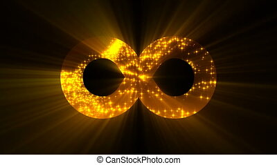 Abstract background with futuristic infinity sign. Digital background
