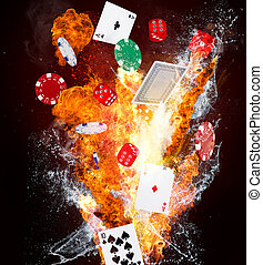 Abstract background with gambling items