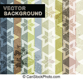 Abstract background with geometric flowers pattern