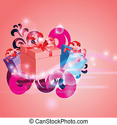Abstract background with gifts