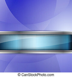 Abstract Background with glass banner