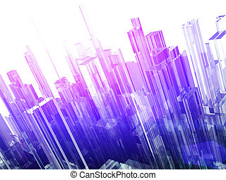 Abstract background with glass blocks