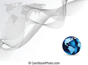 Abstract background with globe