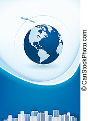 abstract background with globe - abstract business...