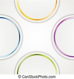 Abstract background with glossy circles