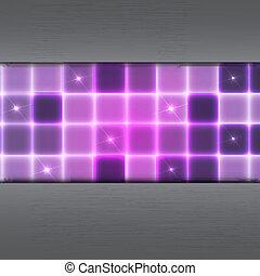 Abstract background with glowing squares
