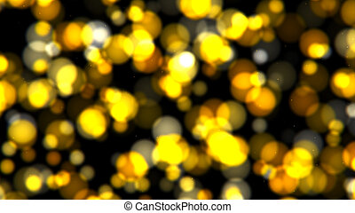Abstract background with gold bokeh