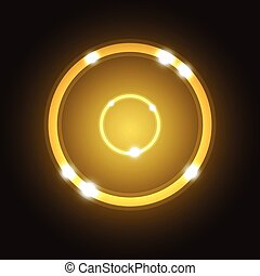 Abstract background with gold circle