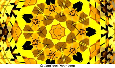 Abstract background with gold kaleidoscope
