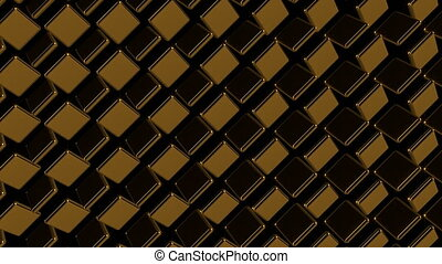 Abstract background with gold square. 3d rendering
