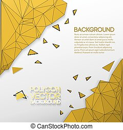 Abstract Background With Golden Polygons