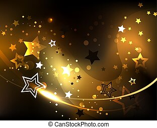 Abstract background with golden stars