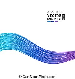 Abstract Background with Gradient Wave Lines.