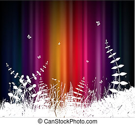 Abstract background with grass.