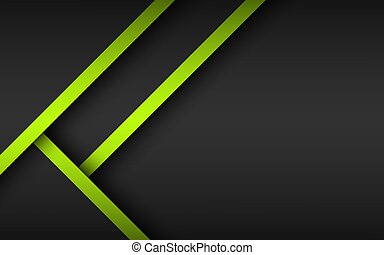 Abstract background with green and black layers above each other, modern design template for your business, vector illustration with oblique stripes and lines