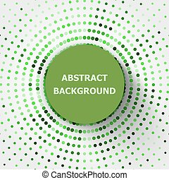 Abstract background with green circles halftone