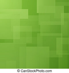 Abstract background with green layered rectangles