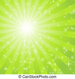 abstract background with green light rays