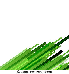 Abstract background with green lines