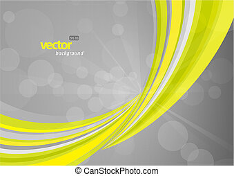Abstract background with green lines.