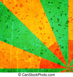 abstract background with green rays