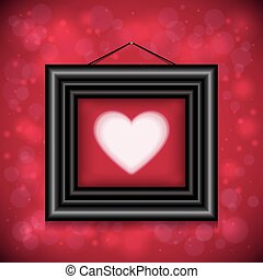 Abstract background with heart and frame